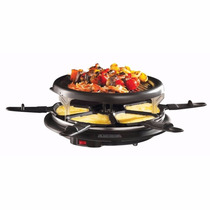 Parrilla Raclette Con Charola Fondue Antiadherente Para 6