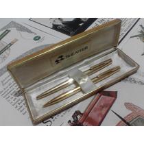 Sheaffer Set Boligrafo Lapicero Stylist Oro 23k Electroplate