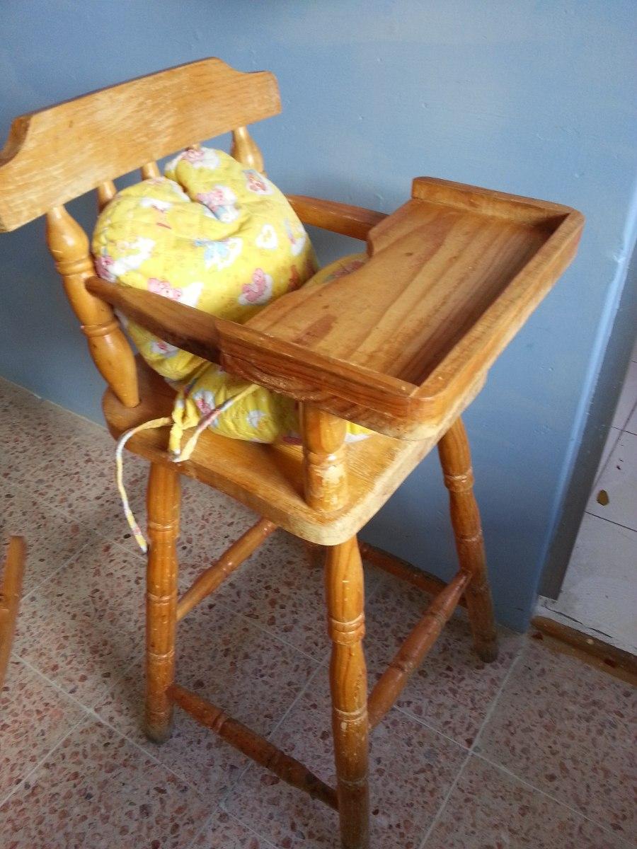 Silla comedor madera bebe oferta en for Silla de bebe de madera