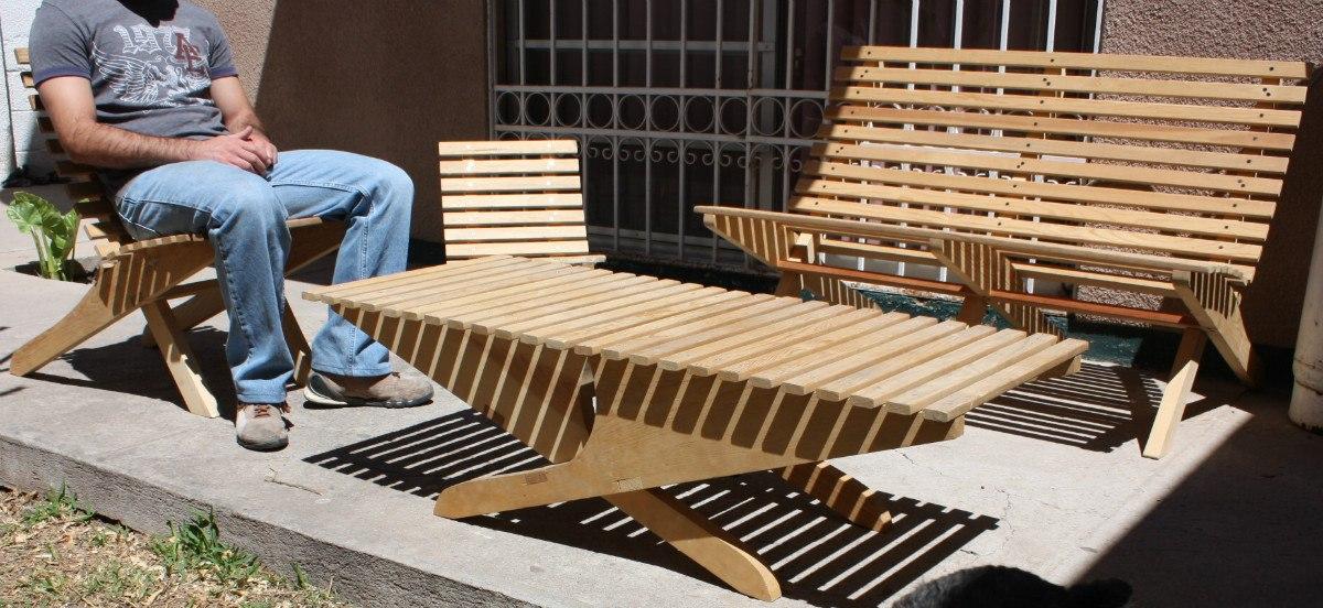Silla mueble plegable madera jardin o interiores 449 - Muebles de jardin madera ...