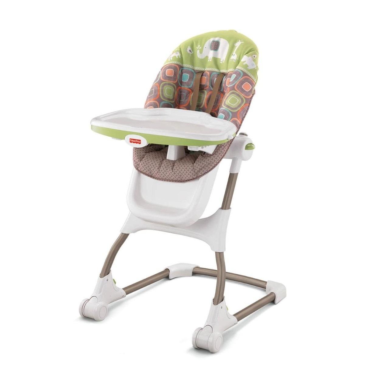 Silla para comer periquera fisher price coco sorbet bebe for Silla mecedora para bebe
