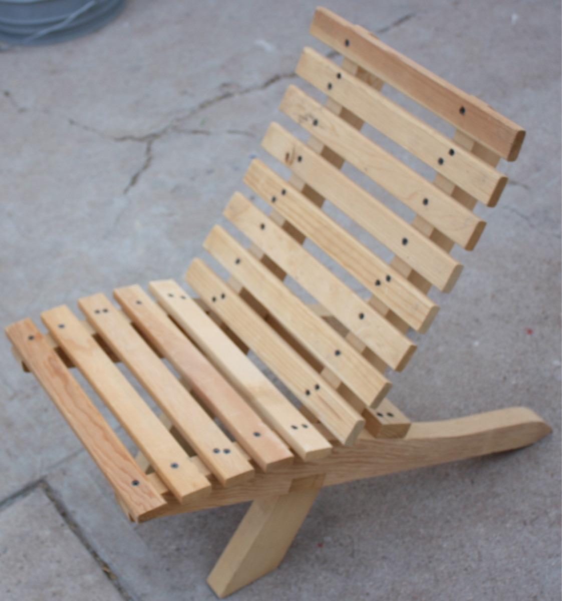 Silla para ni o mueble plegable madera jardin o interiores for Sillas madera