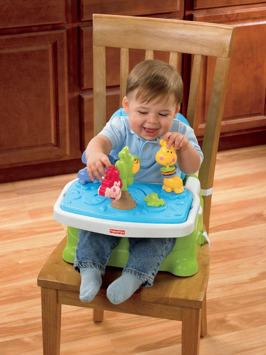 Silla sillita para bebe comer ajustable fisher price vbf - Silla para comer bebe ...