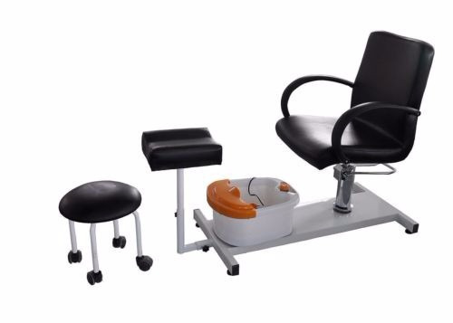 Silla sillon con banco pedicure spa tina pies hidraulico for Sillas para pedicure