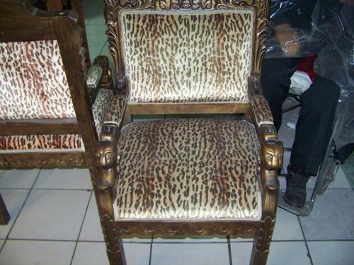 Sillas antiguas de imitacion piel de leopardo u s for Sillas de imitacion