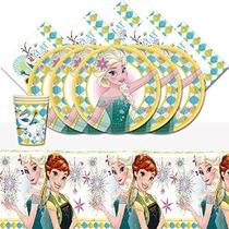 La Fiesta De Cumpleaños Vajilla Paquete De Disney Frozen Fev