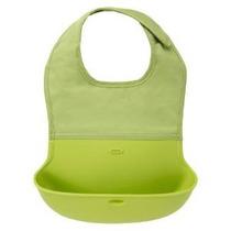 Oxo Tot Silicona Roll Up Babero Con Comfort-fit Tela Cuello,