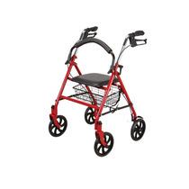 Andador Con Silla Plegable D Aluminio Con Canasta 4 Ruedas