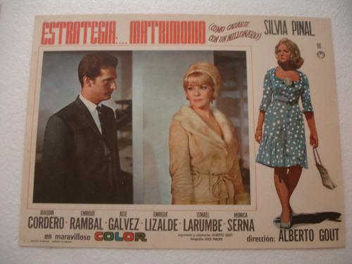 Silvia Pinal, Estrategia...matrimonio , Cartel De Cine