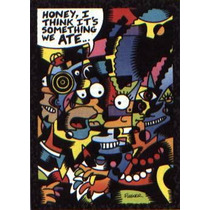 Simpsons Homero Marge Arty Art Card #1 By Mary Fleener - Hm4
