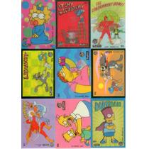 Simpsons Set Completo De Tarjetas Wiggle (9) Skybox 1993