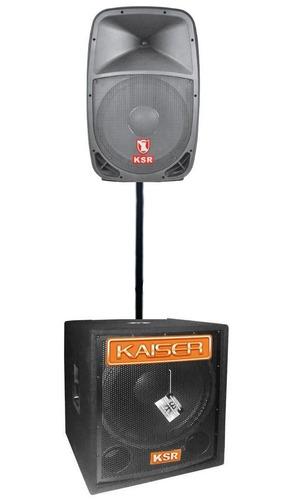 Sistema Bafles Subwoofer Amplificados Kaiser 7000w Activos