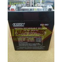 Bateria Recargable Sellada 12v 4.0amper Dxr660063