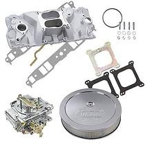 Múltiple De Admisión,carburador 600cfm,filtro Chevrolet 350