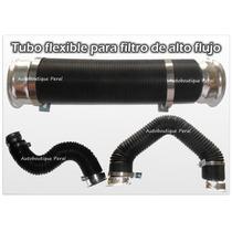 Tubo Flexible Negro O Gris Para Filtro De Aire Alto Flujo