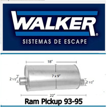 Mofle Silenciador Ram Pickup 93-95 Walker Quietflow 21047