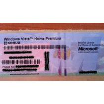 Windows Vista Home Premium Original Coa