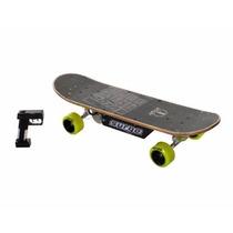 Patineta Dynacraft Surge Electric Skateboard, Black/green