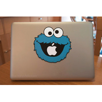 Macbook Laptop Sticker El Monstruo Come Galletas