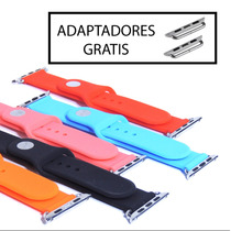 Extensibles Correas Apple Watch Silicon 38mm 42mm 5 Colores