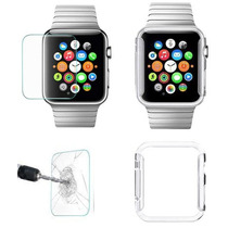 Apple Iwatch 42 Combo Cristal Templado Y Case Transparente