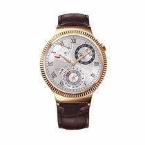 Reloj Huawei Watch Dorado Acero Inoxidable Correa Piel Café