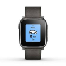 Pebble Tiempo Acero Smartwatch Para Apple / Dispositivos And