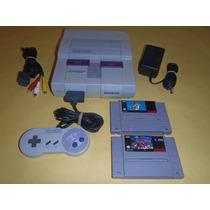 Super Nintendo Completo 1 Control Con Super Mario World R1