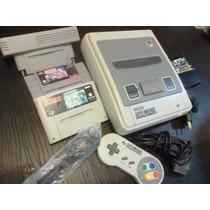 Super Famicom. Super Nintendo, Con Adaptador