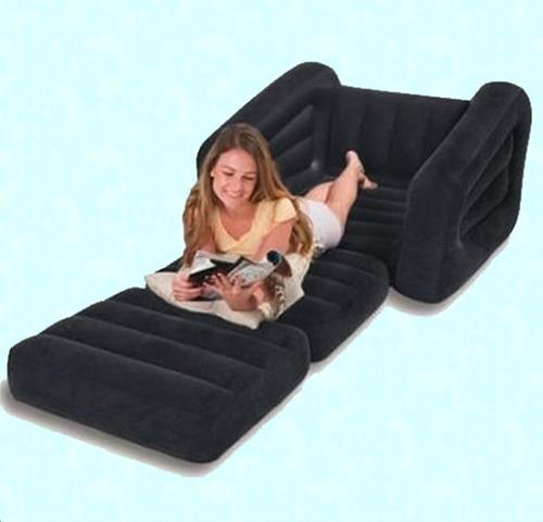 Sofa cama individual inflable 1 en mercadolibre for Cama individual tipo sofa