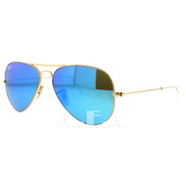 Ray Ban Espejo Azul Gota Mediana 58 Mm