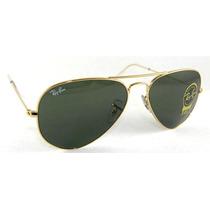 Lentes Gafas De Sol Ray Ban Aviador Aviator Rb3025 Clasico