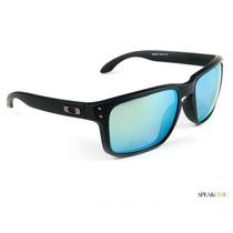 Lentes Oakley Oo91025055 Holbrook Emerald Iridium Originales