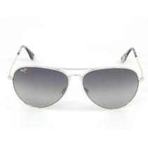 Gafas Plata Maui Jim Mavericks Gs264-17 / 61mm Gris Neutro