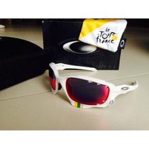 Oakley Racing Jacket Tour De France White + Red Iridium Vr28