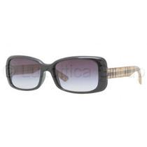 Gafas Burberry Be4087 Sunglasses Marco Negro / Gris Gradien