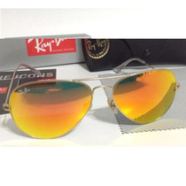 Lentes Bay Ban Aviador,flash,color, 3025
