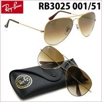 Lentes Gafas Sol Ray Ban Aviator Aviador Cafe Rb3025 Rayban