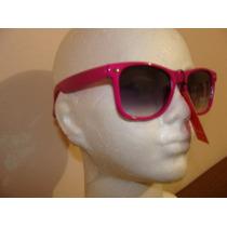 Fashion Lentes De Sol Armazon Moda Retro Color Rosa Fiusha