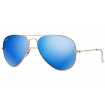 Ray Ban Rb 3025 112/17 Azul Espejo Original Aviator Club Way