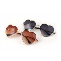Lentes Gafas Love Corazón Metálico Dorados Varios Colores