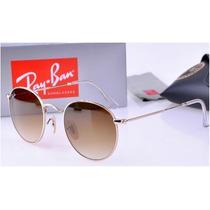 Ray Ban John Lennon Rb3447 001/51 Dorado-cafe Original ~am