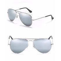 Gafas Ray Ban Plateadas Full Silver Espejo 3026 Grande 3025
