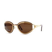 Gafas Christian Dior A Brown And Gold Authentic Women Vint