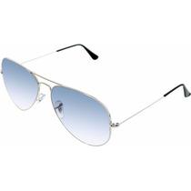 Gafas Ray Ban Aviador Azul Gradient Plateadas 3026 Grande