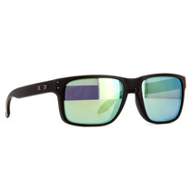 Oakley Holbrook Matte Black Emerald Iridium Polarized 910250