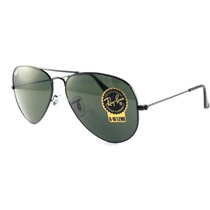 Ray Ban Aviator Gota Grande Rb 3026 L2821 Black Metal G-15