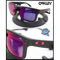 Oakley Holbrook 9102-36 Matte Black/+red Iridium Originales