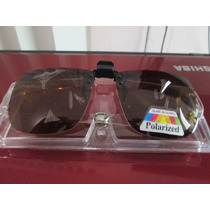 Micas Jumbo Clip On Universales De Sol Polarized Color Cafe