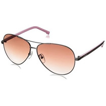 Gafas Mujer Lacoste L155s Aviator Sunglasses Gold / Brown,